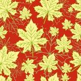 Абстрактная картина с кленовыми листами Стоковая Фотография RF
