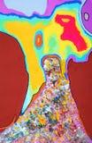 Абстрактная картина с различными методами Стоковые Изображения RF