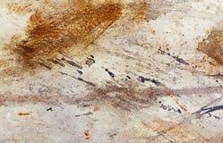 Абстрактная картина с расплывчатой и запятнанной структурой влияние ржавчины металла с зернами яркого блеска Картина на старой бу Стоковые Фотографии RF