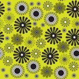 Абстрактная картина с цветками иллюстрация штока