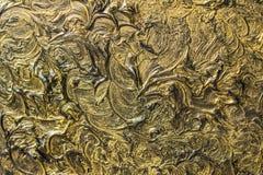 абстрактная картина холстины Черные цвета и золото Справочная информация стоковое изображение rf