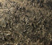 абстрактная картина холстины Черные цвета и золото Справочная информация стоковые изображения