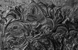 абстрактная картина холстины Черные цвета и золото Справочная информация стоковая фотография