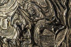 абстрактная картина холстины Черные цвета и золото Справочная информация стоковые фото