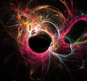 Абстрактная картина цвета неоновых свет движения бесплатная иллюстрация