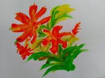 абстрактная картина цветка стоковые фотографии rf