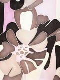 абстрактная картина цветка Стоковое Изображение RF