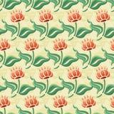 абстрактная картина цветков безшовная Стоковое Фото