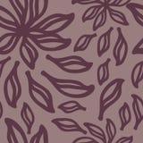 абстрактная картина цветков безшовная Стоковое Изображение RF