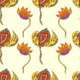 абстрактная картина цветков безшовная Стоковые Фото