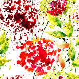 абстрактная картина цветков безшовная Стоковые Изображения RF