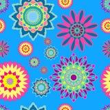 абстрактная картина цветков безшовная Стоковая Фотография
