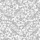 абстрактная картина цветков Страница книжка-раскраски иллюстрация штока