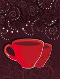 абстрактная картина чашек Стоковое Фото