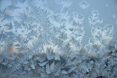 Абстрактная картина льда на окне Стоковая Фотография