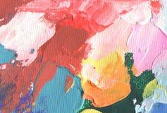Абстрактная картина acrylic и акварели Backgro текстуры холста Стоковые Изображения RF