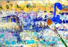 абстрактная картина paintbrush краски стоковое фото rf