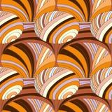 Абстрактная картина striped частей с покрашенными линиями и волнами бесплатная иллюстрация