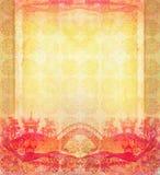 Абстрактная карточка с азиатскими зданиями Стоковое Фото