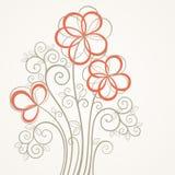 Абстрактная карточка цветка Стоковая Фотография RF