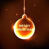 Абстрактная карточка шарика рождества блеска Стоковое Изображение RF