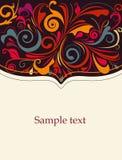 абстрактная карточка Стоковые Изображения RF