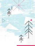 Абстрактная карточка chirstmas Геометрический коллаж Стоковое Фото