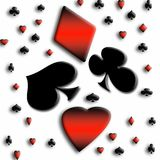 абстрактная карточная игра Стоковые Фото