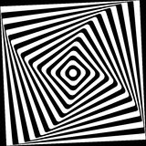 Абстрактная квадратная спиральная черно-белая картина Стоковое фото RF