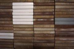 Абстрактная квадратная форма деревянного блока Стоковая Фотография RF