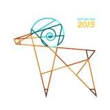 Абстрактная коза invitation new year Стоковое Изображение RF