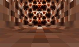 Абстрактная комната без потолка Стоковые Изображения