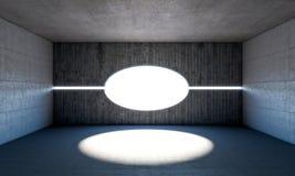 Абстрактная конкретная комната Стоковое Изображение RF