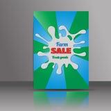абстрактная конструкция брошюры Рогулька с выплеском молока план в размере A4 Стоковое фото RF