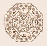 Абстрактная конструкция в индийском типе Стоковые Изображения RF