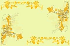 абстрактная конструкция конструирует флористические иллюстрации Стоковые Изображения RF