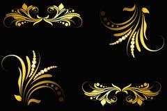 абстрактная конструкция конструирует флористические иллюстрации Стоковые Фото