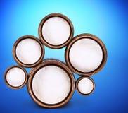 Абстрактная конструкция круглых форм Стоковые Изображения