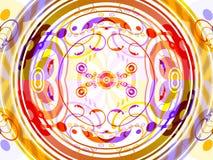 абстрактная конструкция кругов Стоковые Фотографии RF
