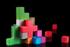 Абстрактная конструкция от деревянных блоков Стоковое Изображение