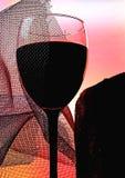 Абстрактная конструкция предпосылки стеклоизделия вина Стоковая Фотография