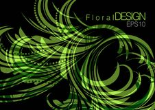 абстрактная конструкция предпосылки флористическая Стоковые Фото