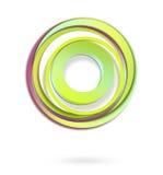 Абстрактная предпосылка. круги иконы Стоковая Фотография