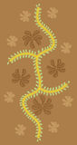 абстрактная конструкция флористическая Стоковое фото RF