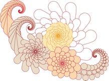 абстрактная конструкция флористическая бесплатная иллюстрация