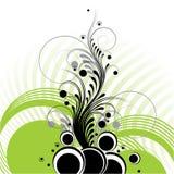 абстрактная конструкция флористическая Стоковое Изображение RF