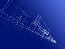 абстрактная конструкция 3d Стоковые Изображения