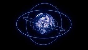 Абстрактная концепция интернета и глобальных связей глобальной вычислительной сети глобальных иллюстрация штока