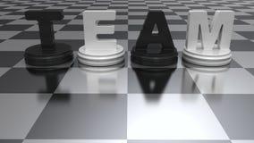 Абстрактная концепция команды Стоковая Фотография RF