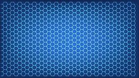 Абстрактная концепция науки и техники с шестиугольной предпосылкой элементов бесплатная иллюстрация